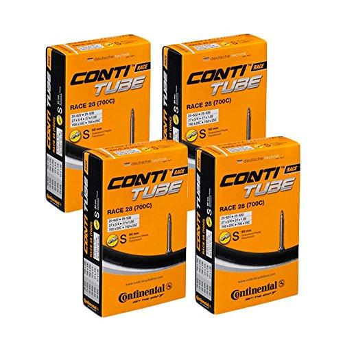 4 x Continental Fahrrad Schlauch Race 28Zoll, 20/25-622 Presta 60 mm Ventil