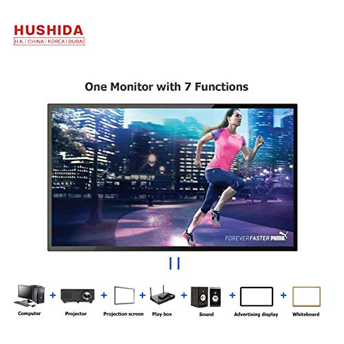 Great Price! 55inch Interactive Digital Signage TV Display, HUSHIDA 1080p 10-Point Multi Infrared To...