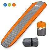 VVIP PolarB Self Inflating Sleeping Pad - Lightweight, Thick Foam Padding, Sturdy Outer Skin & Repair Patch - Insulated, Compact & Waterproof Camping Mat - Backpacking, Hiking & Camping Accessory