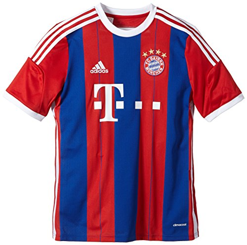adidas Jungen Spieler-Trikot FC Bayern München Replica Heim, Fcb True Red/Collegiate Royal/White, 176, F48504