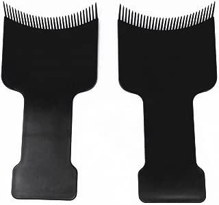 Honbay 2pcs Barber Flat Top Paddle Board Comb Hair Balayage Highlights Board Hair Coloring Kit for Hair Dye