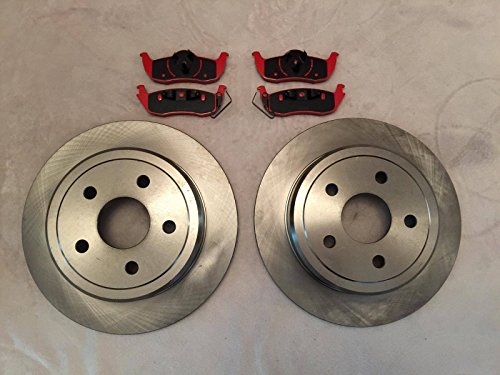 for 93-98 Jeep Grand Cherokee Front /& Rear Disc brake Rotors /& With Ceramic Pads