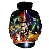 Lichee Mens' 3D Star Wars Pullover Film Hoodies Fashion Printed Long Sleeve Cosplay Sweatshirts-Large