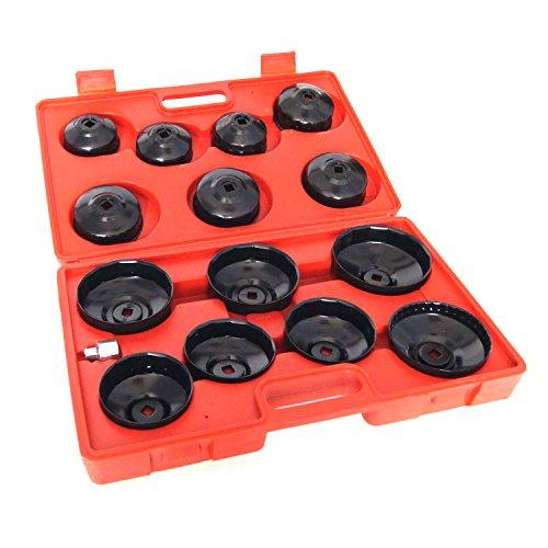 14 filtros de aceite tipo taza para coche, furgoneta, camion, llave inglesa, herramienta de garaje, 450253