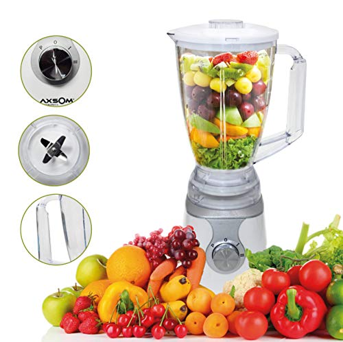 Jarra licuadora Vital Health de Axsom, Licuadora de Vaso de 1,5 L, Licuadora Libre de BPA, Licuadora para Verduras y Frutas