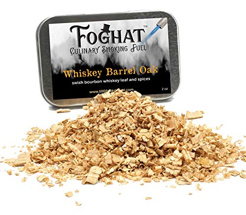 Whiskey Barrel Oak Wood Smoking Chips for Smoking Gun, Glass Cloche or Foghat Cocktail Smoker | Foghat Culinary Smoking Fuel (4oz) | Infuse Bourbon, Cheese, Meats, BBQ, Salt, Butter and More!