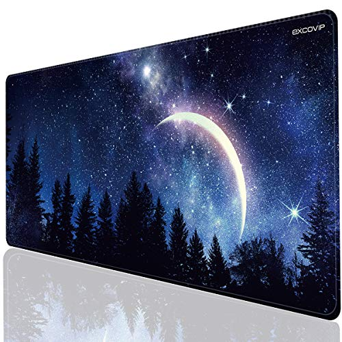 EXCOVIP Mouse Pad with Stitched Edge, Extra Extended Gaming Mouse Pad, Large Mouse mat with Smooth Surface and Precise Tracking (90x40cm)