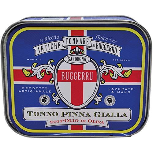 Filetti di tonno Pinna Gialla all'olio di oliva 360 g lavorazione artigianale di Sarda Affumicati
