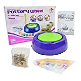 S-TROUBLE Mini DIY Ceramic Handmade Pottery Wheel Machine Kids Boys Girls Clay Arts Crafts Toys Gift