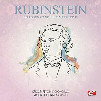 Rubinstein: Cello Sonata No. 1 in D Major, Op. 18 (Digitally Remastered)
