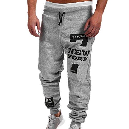 ITISME Homme Pantalons Chino Automne Et Hiver Mode Casual New York Impression Mélange de Coton Pantalons