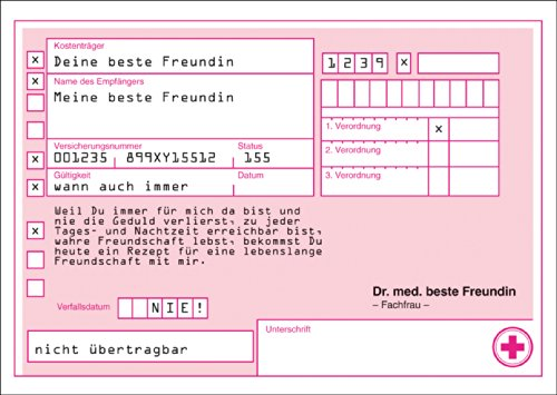 Rezept Gutschein Karten an