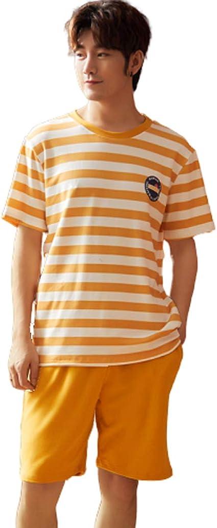 GL SUIT Conjunto de Pijama para Hombre Verano 100% algodón ...