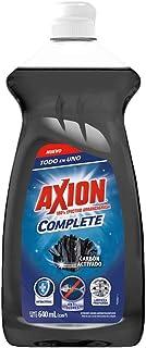 Axión Complete Lavatrastes Líquido Carbón Activado Todo En Uno, Elimina Los Malos Olores Y Bacterias, 640 Ml