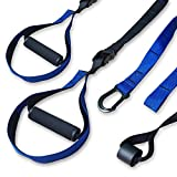 Bodyweight Resistance Training Kit - Suspension Trainer Straps with Door Anchor, Extension Strap and Portable Bag for Complete Body Workout
