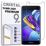 REY Protector de Pantalla para Huawei Honor V9 Play/Honor 6C Pro, Cristal Vidrio Templado Premium