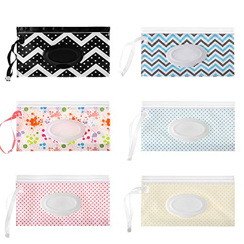 Wet Wipe Pouch 6 Pcs Baby Wet Wipe Pouch Travel Wipes Case...