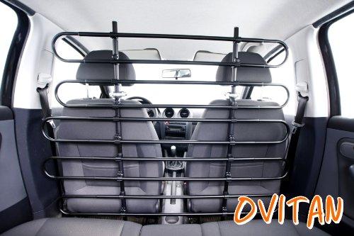 OVITAN® Hundegitter fürs Auto 10 Streben universal zur Befestigung an den Kopfstützen der Vordersitze - für alle Automarken geeignet - Modell: V10