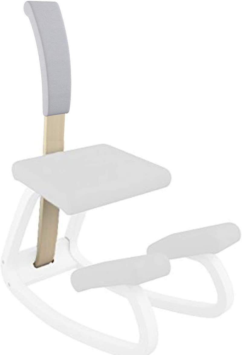 Varier Variable Padded Backrest (Light Grey Revive Fabric with Natural Wood)