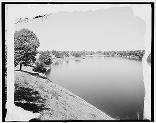 HistoricalFindings Photo: Lake Quinsigamond,Lake Park,Shore,Water Bodies,Worcester,Massachusetts,MA,1906