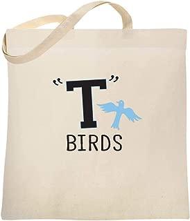 T Birds Tbird Costume Men Gang Logo Retro 50s 60s Large Canvas Tote Bag Women