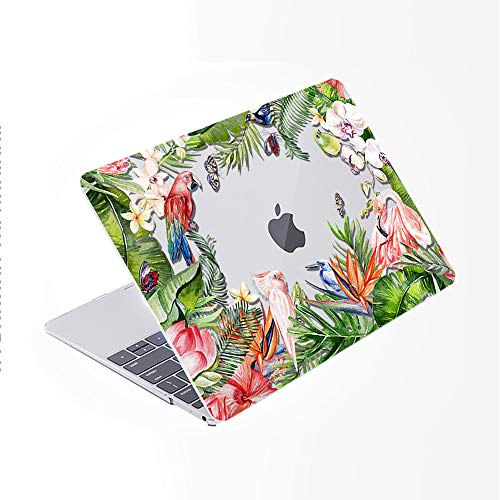 SDH for MacBook Pro 13 inch Case (2020/2019/2018/2017/2016,Touch Bar & ID),Plastic Pattern Hard Shell & Laptop Sleeve Bag & Keyboard Cover for Mac Pro 13 A2159/A1989/A1706/A1708,Flower World 17