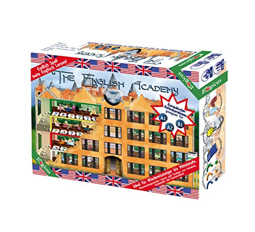 Preisvergleich Produktbild The English Academy - Englisch Lernen leicht gemacht Brettspiel Level A1 A2 B1 Anfänger bis Mittelstufe
