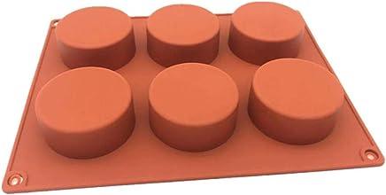 3pcs molde de pastel de silicona 6 agujeros redondos jalea pudín taza de leche condensada