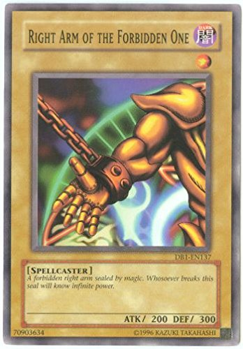 Yu-Gi-Oh! - Right Arm of The Forbidden One (DB1-EN137) - Dark Beginnings 1 - Unlimited Edition - Common