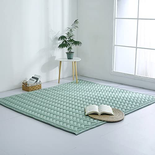 LIUZEIMIN Baumwolle Baby Crawling-Matte,Volltonfarbe Folding Mat Anti-rutsch Dicker Teppich Wohnzimmer teppiche-A 190cm×150cm