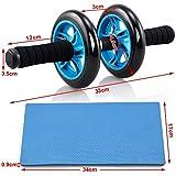 Yahee Bauchtrainer AB Wheel roller Bauchroller Bauchmuskeltrainer mit Fitnessmatte - 5