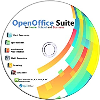 Open Office on CD for Home Student and Business, Compatible with Microsoft Office Word Excel PowerPoint for Windows 10 8 7 powered by Apache