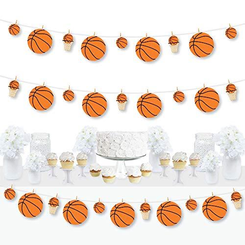 Big Dot of Happiness nada más que red – Baloncesto – Baby Shower o fiesta de cumpleaños DIY decoraciones – tendedero guirnalda – 44 piezas
