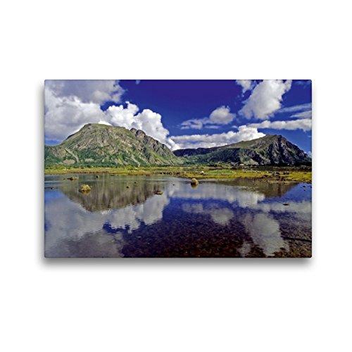 Premium Textil-Leinwand 45 x 30 cm Quer-Format Norwegen: Wolkenspiele im Nordland | Wandbild, HD-Bild auf Keilrahmen, Fertigbild auf hochwertigem Vlies, Leinwanddruck von Reinhard Pantke