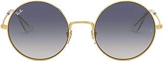 Ray-Ban ja métal jo ronde lunettes de soleil gold bleu brun dégradé RB3592 001/I9 50