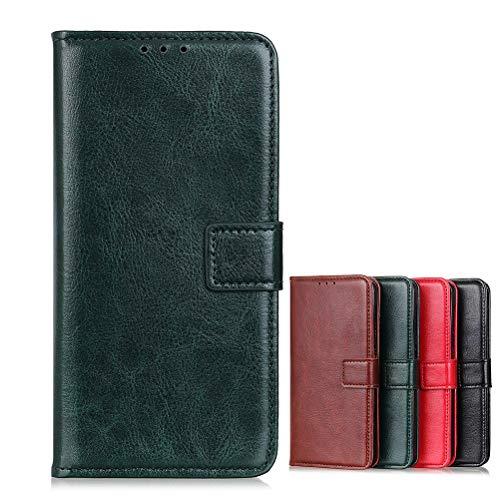 BaiFu Brieftasche Schutzhülle für Realme 6 Pro Hülle mit Kartenfach Etui Standfunktion & Magnetisch Handyhülle Leder Flip Lederhülle für Realme 6 Pro (Grün)