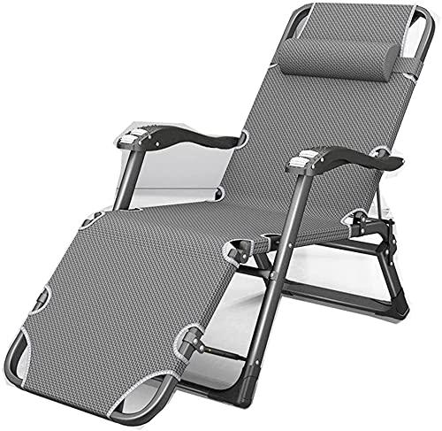 KDRICH Sillón relajante, cama doblada individual, silla de jardín gravedad cero, silla plegable de oficina, 1 (color : 1)