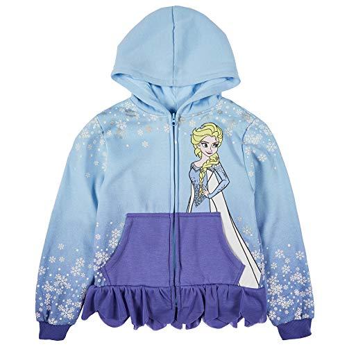 Disney Girls' Big Elsa Frozen Dress Costume Jacket, Light Blue/Purple, Large (10-12)