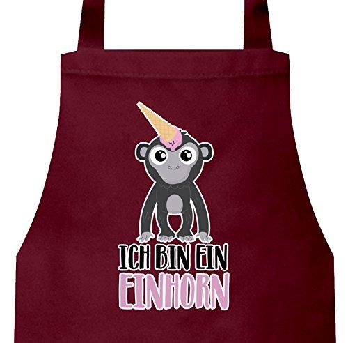 süße Geschenkidee Unicorn Eis Ice Cream Frauen Herren Barbecue Baumwoll Grillschürze Kochschürze Gorilla - Ich bin ein Einhorn, Größe: onesize,Burgund