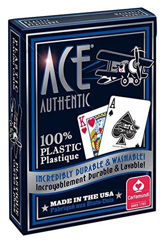 Cartamundi 1060 Ace 100% Plastic Playing Cards Assorted Colors