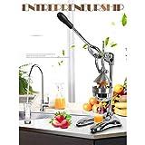 LJA Exprimidor de acero inoxidable: extrusora doméstica de grado comercial para naranjas, limones, limas, pomelos, etc. Saludable, ecológico Fácil de operar