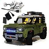 GEAMENT Kit de luces LED para Land Rover Defender – Compatible con LEGO Technic 42110 Building Blocks Model (juego Lego no incluido) (con instrucciones)