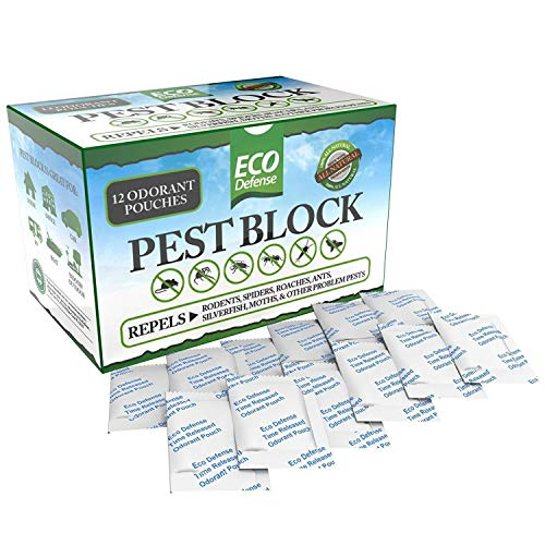 Eco Defense Pest Control Pouches - All Natural - Repels Rodents, Spiders, Roaches, Ants, Moths,...