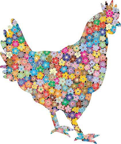 Akachafactory sticker decal dier vrede en liefde bloem auto silhouet haan vogel haan
