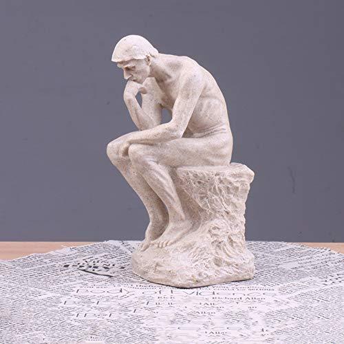 Sandstein Abstrakte Denker Deko Figur Skulptur Handwerk Kunstwerk Deko