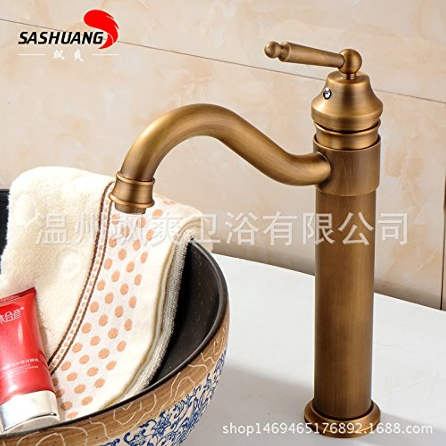 ETERNAL QUALITY Bathroom Sink Basin Tap Brass Mixer Tap Washroom Mixer Faucet Basin was cool antique table basin mixer with high basin 360° redation High s bend see d