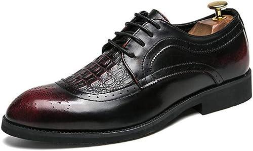 Herrenschuhe, Business Lederschuhe, Frühling Herbst Formale Spitz Schuhe, Kleid Party Schuhe, Perfekt für Einen Tag im Büro (Farbe   EIN, Größe   42) (Farbe   B, Größe   44)