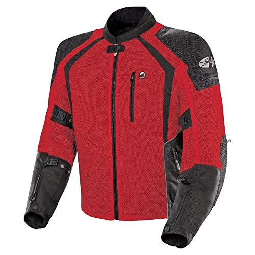 Joe Rocket 1516-4104 Phoenix Ion Men's Mesh Motorcycle Jacket (Red, Large)