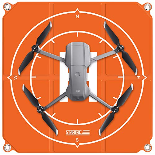 TWH Drone Landing Pad con bolsa de almacenamiento universal impermeable portátil rápido plegable Helipad diseño de doble cara para DJI Mavic Mini 2/Mavic Air 2 (50 x 50 cm)