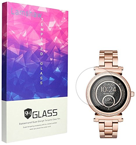 for Michael Kors Access Sofie Screen Protector, Lamshaw 9H Tempered Glass Screen Protector for Michael Kors Access Smartwatch Sofie Gen 2 (3 Pack)